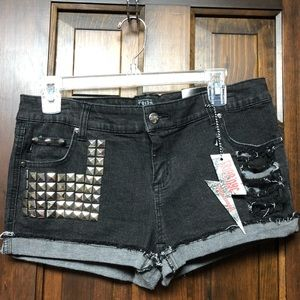 Tripp NYC Black Denim Jean Shorts